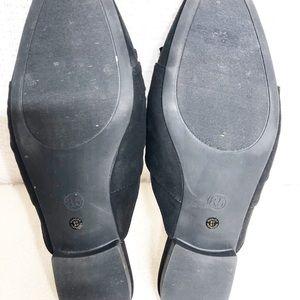 "a.n.a Shoes - a.n.a.""Shadow"" Black Faux Suede Slides 8.5    SB22"